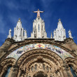 Tibidabo temple, at the top of tibidabo hill, Barcelona, — Stock Photo #9897316