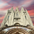 Tibidabo temple, at the top of tibidabo hill, Barcelona, — Stock Photo #9897622