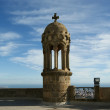 Tibidabo temple, at the top of tibidabo hill, Barcelona, - Stock Photo