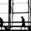 Silhouettes at airport building — Stock Photo #9899064