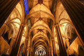 Inside the Cathedral of Barcelona — Stock Photo