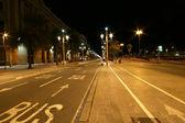 The streets of Barcelona at night, Catalonia — Stock Photo