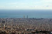 Vista de barcelona desde la colina del tibidabo — Foto de Stock