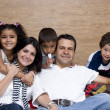 Beautiful family enjoying together — Stock Photo #8360724