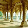 Stock Photo: Gallery of pillars at AgrFort. Agra, Uttar Pradesh, India