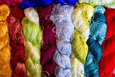 Different color thread silk — Stock fotografie