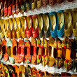 Multicolored Traditional Indian shoes — Stock Photo