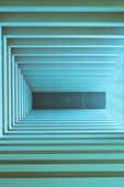 Abstract blue wall interior background — Stock Photo