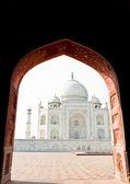Taj mahal, india, agra. imagen con espacio de copia — Foto de Stock