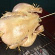 Whole Chicken on Barbecue - Stock Photo