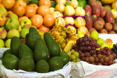 Avocado and Fruits on Peruvian Market — Stock Photo