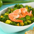 Shrimps on Watercress Salad — Stock Photo #10617936