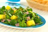 Watercress Pineapple Ham Salad — Stock Photo
