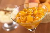 Compota de pêssego — Fotografia Stock