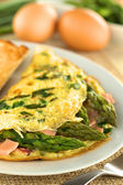 Asparagus and Ham Omelet — Stock Photo