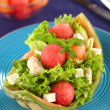 Melon and Chicken Salad - Stock Photo