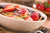 Schupfnudeln with Fresh Strawberries — Stock Photo