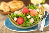 Melon and Chicken Salad — Stock Photo