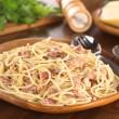 Spaghetti alla Carbonara - Stock Photo