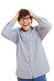 Really happy latin student — Stock Photo