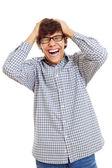 Really happy latin student — Stock Photo