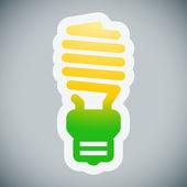 Energy saving lamp illustration — Stock Vector