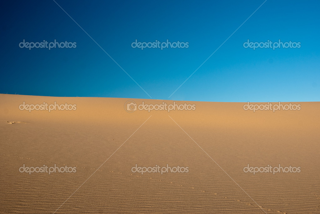 Horizon where blue sky meets sand desert — Stock Photo #10533953