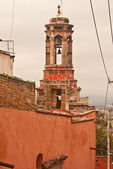 Mexican rooftop with belltower — Stock Photo