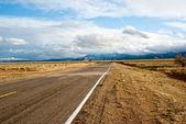 Long road in Desert Storm — Stock Photo