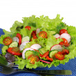 Summer salad of fresh vegetables — Stock Photo