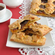 Strudel of apples and jam - Stock Photo