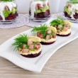 Royalty-Free Stock Photo: Appetizer with herring and beets