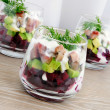 Royalty-Free Stock Photo: Appetizer in a glass of beet and herring with avocado