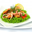 "Salad ""seafood mix"" - Stock Photo"