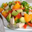 Stock Photo: Chicken salad with avocado