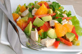 Chicken salad with avocado — Stock Photo