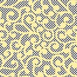 Vector curles on lace seamless background — Stockvektor