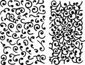 Black maze of vector curles — Stock Vector