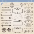 Royalty-Free Stock Vector Image: Vector calligraphic decoration elements set