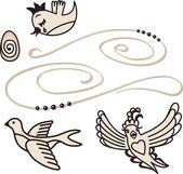 Canto de los pájaros — Vector de stock