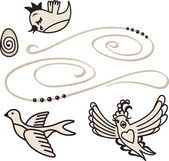 Pássaros cantando — Vetorial Stock