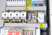 Panel with electrical equipment — Stock Photo
