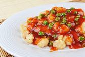 Huhn mit roter sauce — Stockfoto