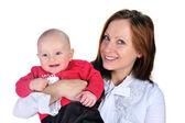 有吸引力的妈妈与可爱的小男孩 — 图库照片