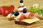 ハムのサンドイッチ — ストック写真