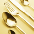 Stock Photo: Set of silverware