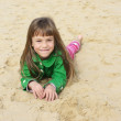 Small girl at beach - Stock Photo