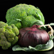 Stock Photo: Broccoli and onion