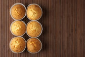 Seis cupcakes — Foto Stock