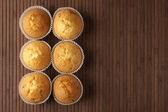 Zes cupcakes — Stockfoto